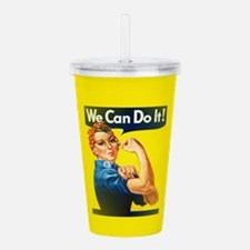 rosie the riveter Acrylic Double-wall Tumbler