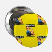 """rosie the riveter 2.25"""" Button (10 pack)"""