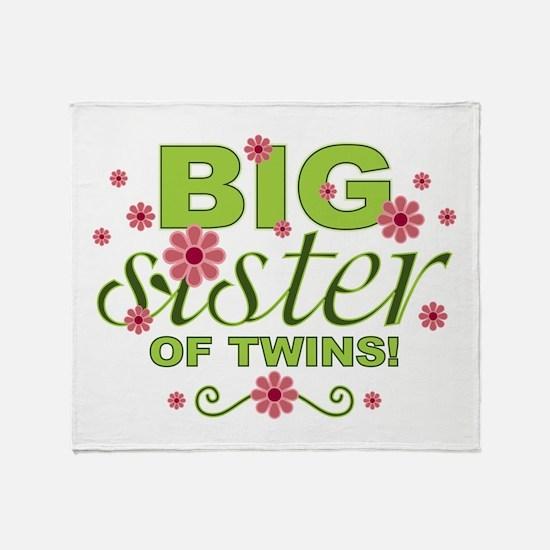 Big Sister of Twins Throw Blanket