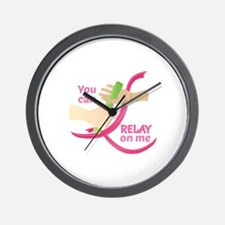 Relay On Me Wall Clock