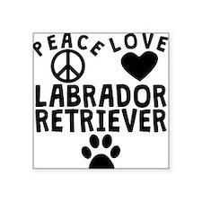 Peace Love Labrador Retriever Sticker
