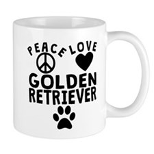 Peace Love Golden Retriever Mugs