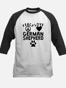 Peace Love German Shepherd Baseball Jersey