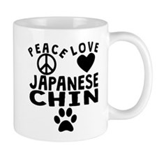 Peace Love Japanese Chin Mugs