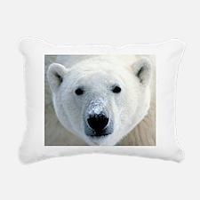 Polar Bear Rectangular Canvas Pillow