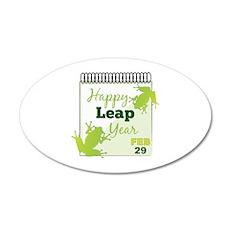 Happy Leap Year Feb 29 Wall Decal