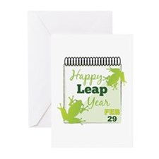 Happy Leap Year Feb 29 Greeting Cards