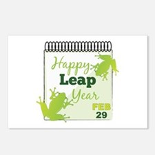Happy Leap Year Feb 29 Postcards (Package of 8)