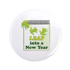 Leap Into A New Year Button