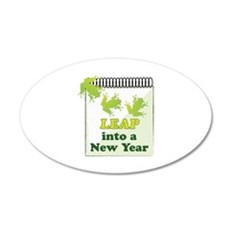 Leap Into A New Year Wall Decal