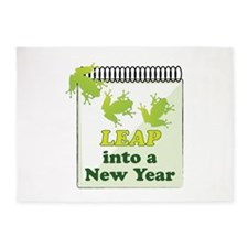 Leap Into A New Year 5'x7'Area Rug