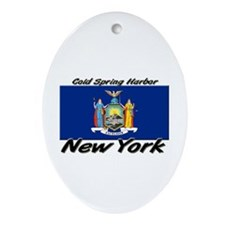 Cold Spring Harbor New York Oval Ornament
