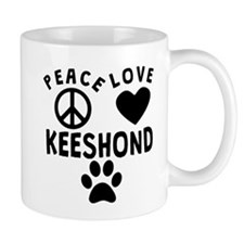 Peace Love Keeshond Mugs