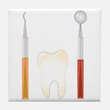 Dentist Tools Tile Coaster
