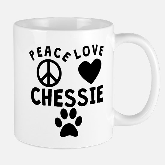 Peace Love Chessie Mugs