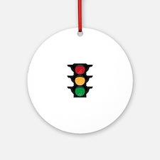 Traffic Light Round Ornament