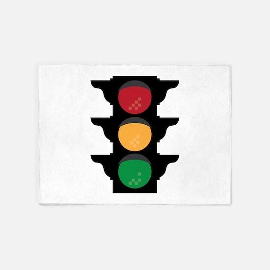 Traffic Light 5'x7'Area Rug