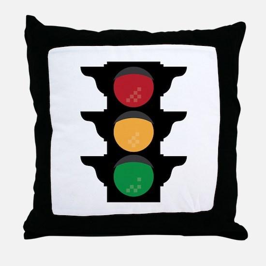 Traffic Light Throw Pillow
