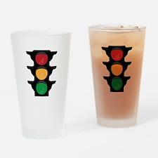 Traffic Light Drinking Glass