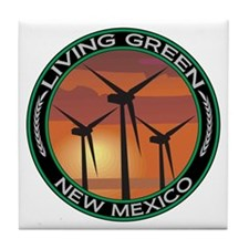Living Green New Mexico Wind Power Tile Coaster