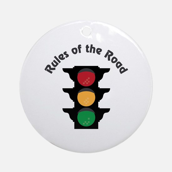 Rules Of Road Round Ornament
