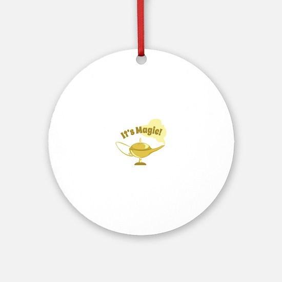 Its Magic Round Ornament
