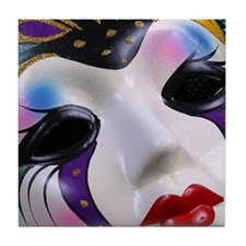 Mardi Gras Mask Tile Coaster