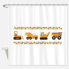 Big Truck Border Shower Curtain