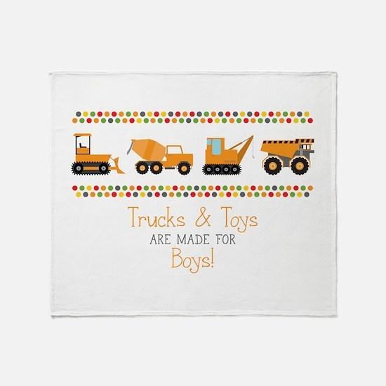 Trucks & Toys Throw Blanket