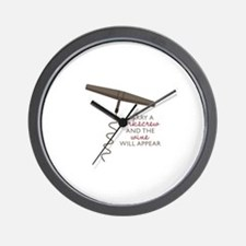 Carry A Corkscrew Wall Clock