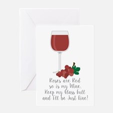 Keep Glass Full Greeting Cards