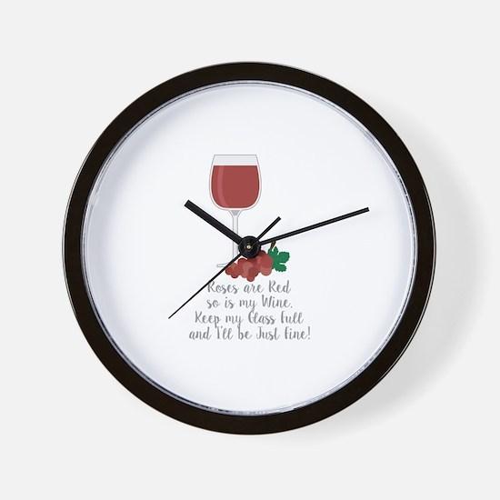 Keep Glass Full Wall Clock