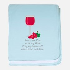 Keep Glass Full baby blanket