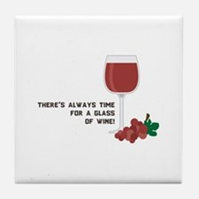 Time For Wine Tile Coaster