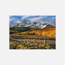 Autumn Mountain Landscape 5'x7'Area Rug