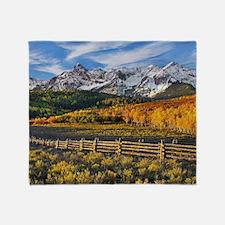 Autumn Mountain Landscape Throw Blanket