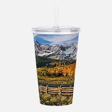 Autumn Mountain Landscape Acrylic Double-wall Tumb