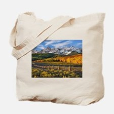 Autumn Mountain Landscape Tote Bag