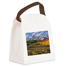 Autumn Mountain Landscape Canvas Lunch Bag