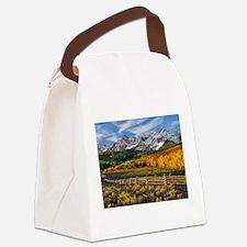 Autumn Mountain Landscape Canvas Lunch Bag
