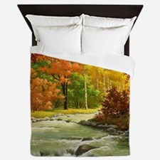 Autumn Landscape Queen Duvet