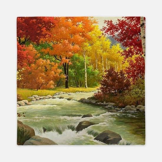 Autumn Landscape Queen Duvet