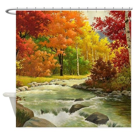Autumn Landscape Shower Curtain By Wickeddesigns4