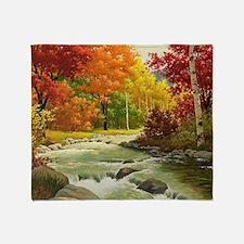 Autumn Landscape Throw Blanket