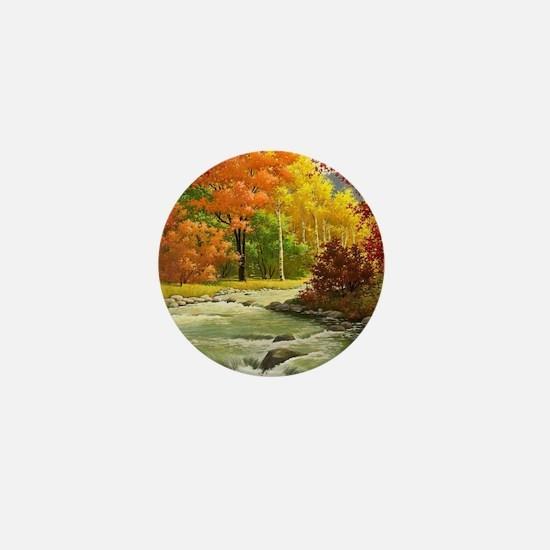 Autumn Landscape Mini Button