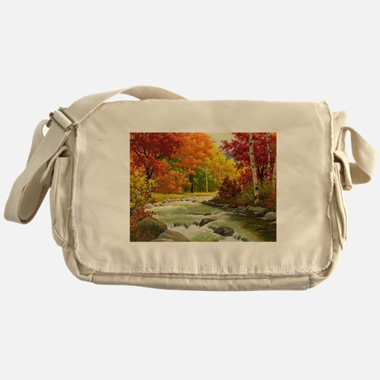 Autumn Landscape Messenger Bag