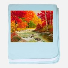 Autumn Landscape baby blanket