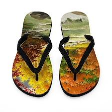 Autumn Landscape Flip Flops