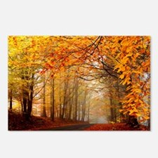 Road At Autumn Postcards (Package of 8)