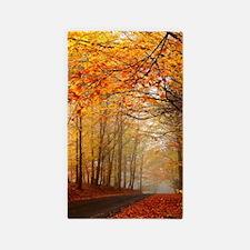 Road At Autumn Area Rug
